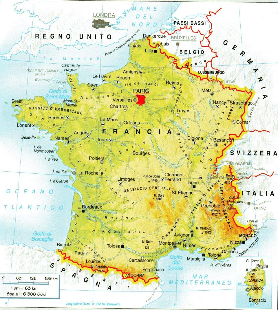 Cartina Geografica Della Loira Francia.La Geografia Della Francia A Scuola Con Giuseppe Geografia